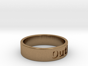 Outlaw Mens Ring 21.3mm Size12 in Natural Brass
