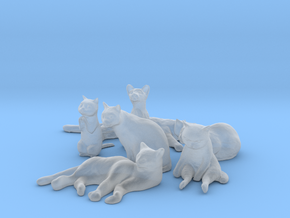 1/32 Cats Poses Collection in Smooth Fine Detail Plastic
