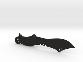Survival Knife Keychain in Black Natural Versatile Plastic