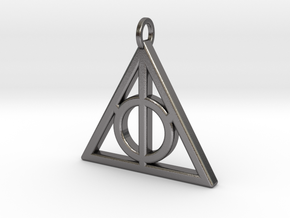 Deathly Hallows Pendant  in Polished Nickel Steel