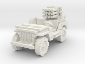 Jeep with 107mm MLR 1/76 in White Natural Versatile Plastic