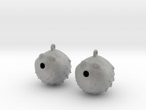 Blowfish Earrings  in Metallic Plastic