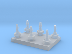 Harris RF-3183 & RF-3184 antenna base - 1/72 scale in Smooth Fine Detail Plastic