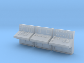 1:72 Control Console 3pc in Smooth Fine Detail Plastic
