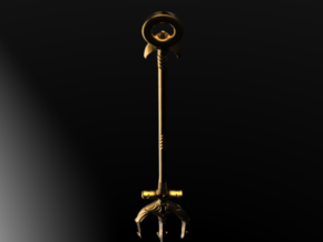 Trident of Poseidon- Aquaman Keychain in 14k Gold Plated Brass