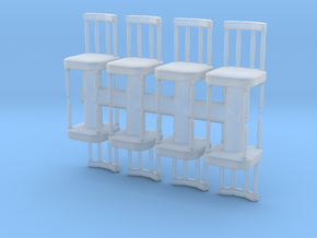 Antique Chair (x8) 1/76 in Smooth Fine Detail Plastic