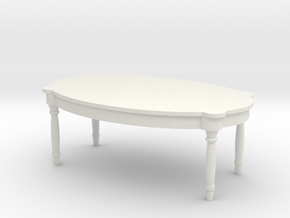 Antique Table 1/56 in White Natural Versatile Plastic