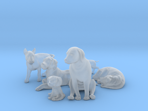 1/35 Dogs Poses Collection in Smooth Fine Detail Plastic