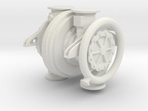 V2 Turbo Pump Assembly in White Natural Versatile Plastic: 1:24