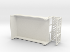 1/64th DOT Road crew with service basket in White Natural Versatile Plastic
