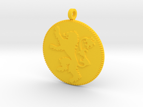 House Lannister Sigil Keychain in Yellow Processed Versatile Plastic