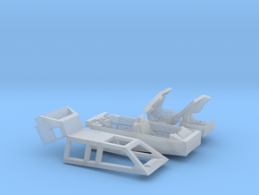 Snow speeder Canopy, Open with Flaps, 1:144 in Smoothest Fine Detail Plastic