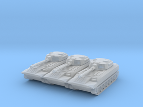 1:285 Miniature 2S1 Tank - 3x in Smooth Fine Detail Plastic
