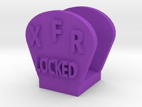 CRC1013 Diff Lock Switch Protector TRX-4 TQi Radio in Purple Processed Versatile Plastic