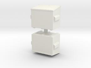 Dumpster (x2) 1/100 in White Natural Versatile Plastic