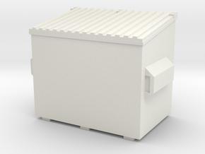 Dumpster 1/56 in White Natural Versatile Plastic
