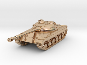 Tank - T-64 - Object 430 - scale 1:220 in 14k Rose Gold Plated Brass