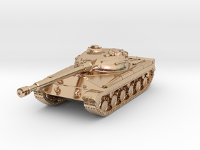 Tank - T-64 - Object 430 - scale 1:160 in 14k Rose Gold Plated Brass