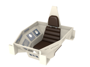 1/32 TOS Colonial Viper Cockpit Interior Replaceme in Smooth Fine Detail Plastic