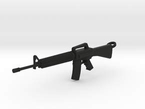 M16 Keychain in Black Natural Versatile Plastic