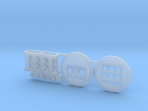 Moebius EVA Pod: Circular Control Panels in Smooth Fine Detail Plastic