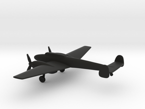 Messerschmitt Bf 110 C-1 Destroyer in Black Natural Versatile Plastic: 1:200