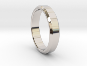 Beveled Ring in Rhodium Plated Brass: 8 / 56.75