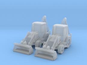 Backhoe Loader 01. 1:285 Scale  in Smooth Fine Detail Plastic