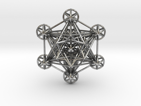3 dimensional Metatron's cube in Natural Silver