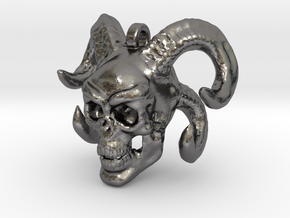 Unorus Skull Keychain/Pendant in Polished Nickel Steel