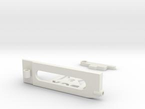 GLR 450mah Lipo holder 102mm chassi  in White Natural Versatile Plastic