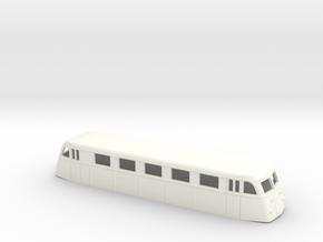 Swedish railcar Yo1 H0-scale in White Processed Versatile Plastic