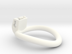 Cherry Keeper Ring - 42x50mm Tall Oval -3° ~46.1mm in White Processed Versatile Plastic