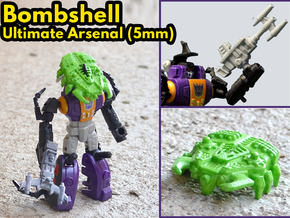 Bombshell Ultimate Arsenal (5mm) in White Natural Versatile Plastic: Extra Large