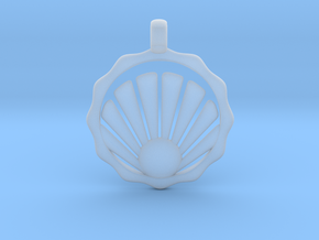 SHELL Symbol Minimal Jewelry Pendant in Smooth Fine Detail Plastic