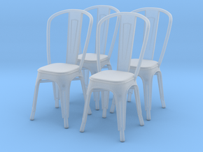 Chair 09. 1:43 Scale in Smooth Fine Detail Plastic
