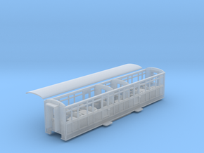 Ffestiniog Rly Barn 3rd/1st coach NO.104/6/7 in Smooth Fine Detail Plastic
