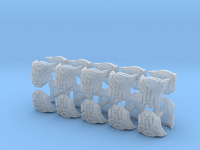 Red Robots shoulder pad icons x20 in Smooth Fine Detail Plastic