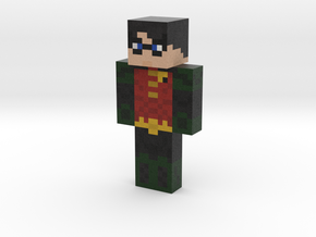 Robin (Dick Grayson) | Minecraft toy in Natural Full Color Sandstone