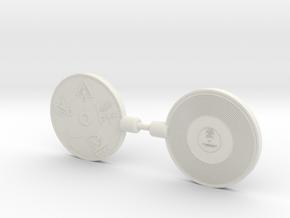 Dinobot's Golden Disks in White Natural Versatile Plastic