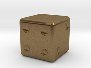 Dice in Natural Bronze