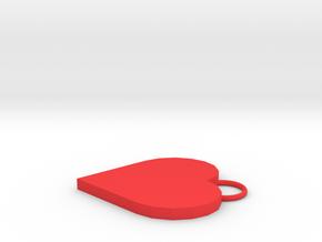 Heart pendant in Red Processed Versatile Plastic