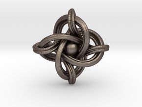 A small 23mm version of the infinity knot in Polished Bronzed Silver Steel