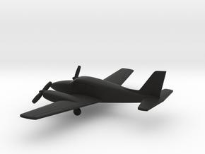 Piper PA-30 Twin Comanche in Black Natural Versatile Plastic: 1:160 - N