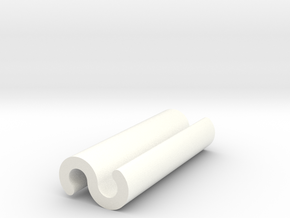 Part 4 of 4 - Folding Wall Dock - Cord Clip in White Processed Versatile Plastic
