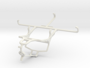 Controller mount for PS4 & Sharp Aquos V - Front in White Natural Versatile Plastic