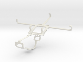 Controller mount for Xbox One & Sharp Aquos V in White Natural Versatile Plastic