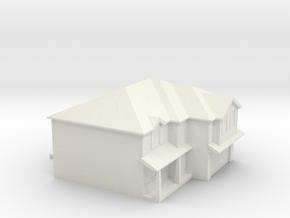House ornament (plastic experiment) in White Natural Versatile Plastic