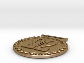 26.2 Marathon Medal  in Polished Gold Steel