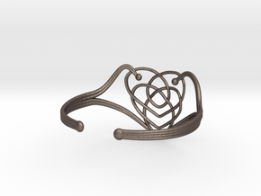 Celtic Motherhood Knot Braclet in Polished Bronzed Silver Steel